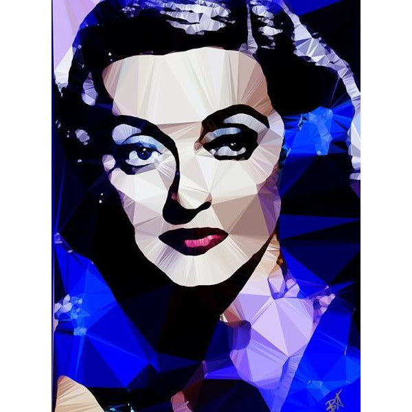 Bette Davis #4 by Baiba Auria - signed art print - Egoiste Gallery - Art Gallery in Manchester City Centre
