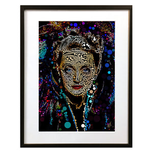 Bette Davis #5 by Baiba Auria - signed art print - Egoiste Gallery - Art Gallery in Manchester City Centre