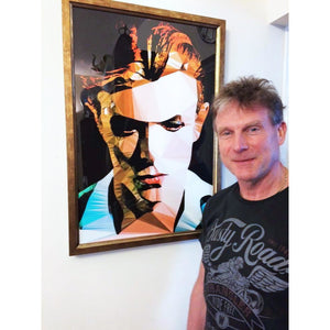 Limited Edition Bowie #25/500 by Baiba Auria - signed art print - Egoiste Gallery - Art Gallery in Manchester City Centre
