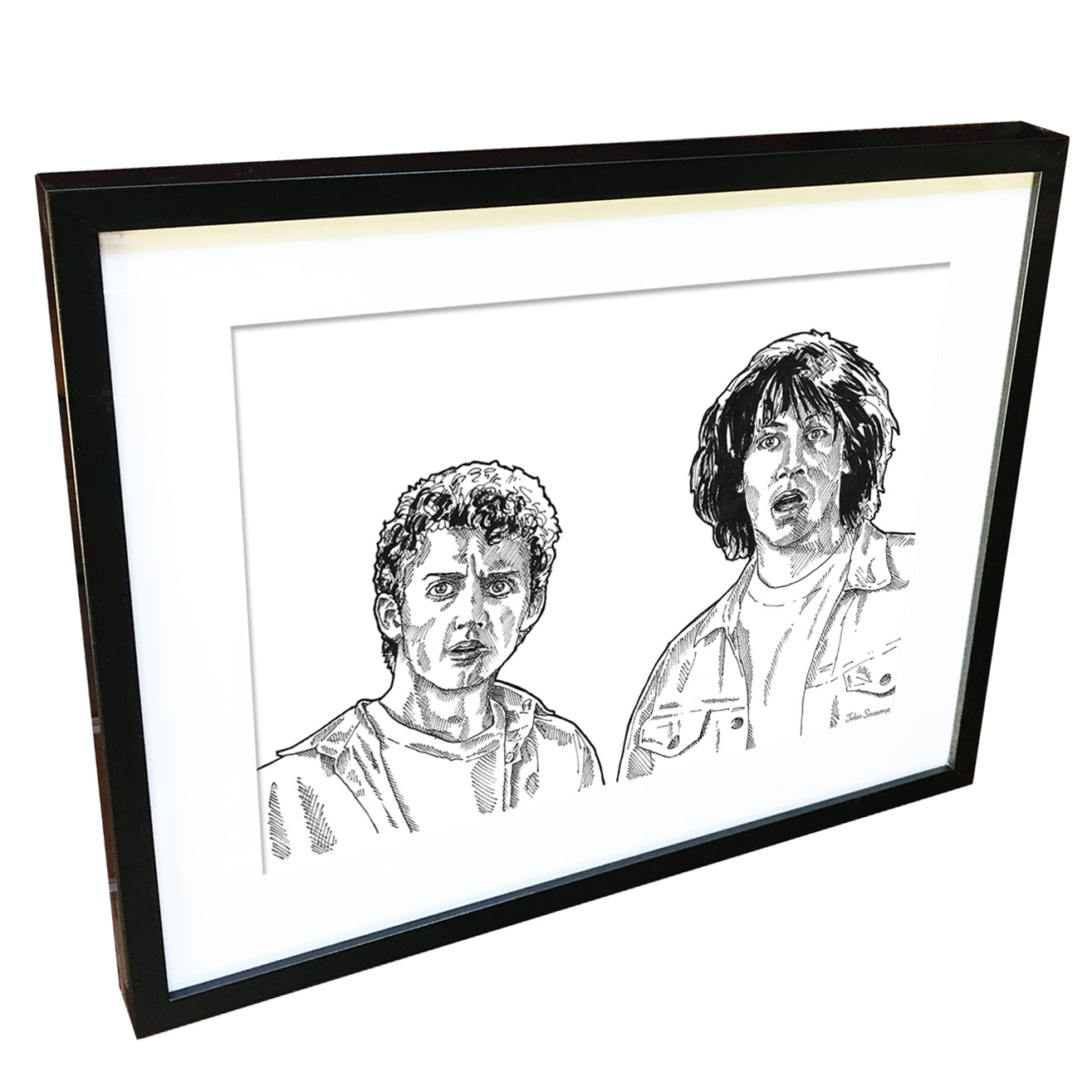 Bill and Ted by John Soonaye - signed fine art print - Egoiste Gallery