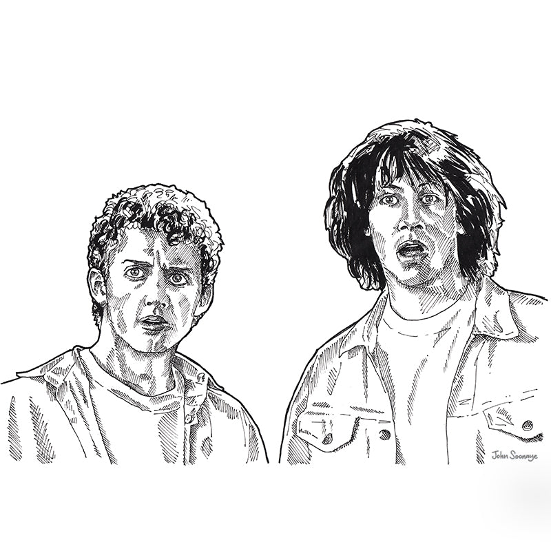 Bill and Ted by John Soonaye - signed fine art print - Egoiste Gallery - Art Gallery in Manchester City Centre