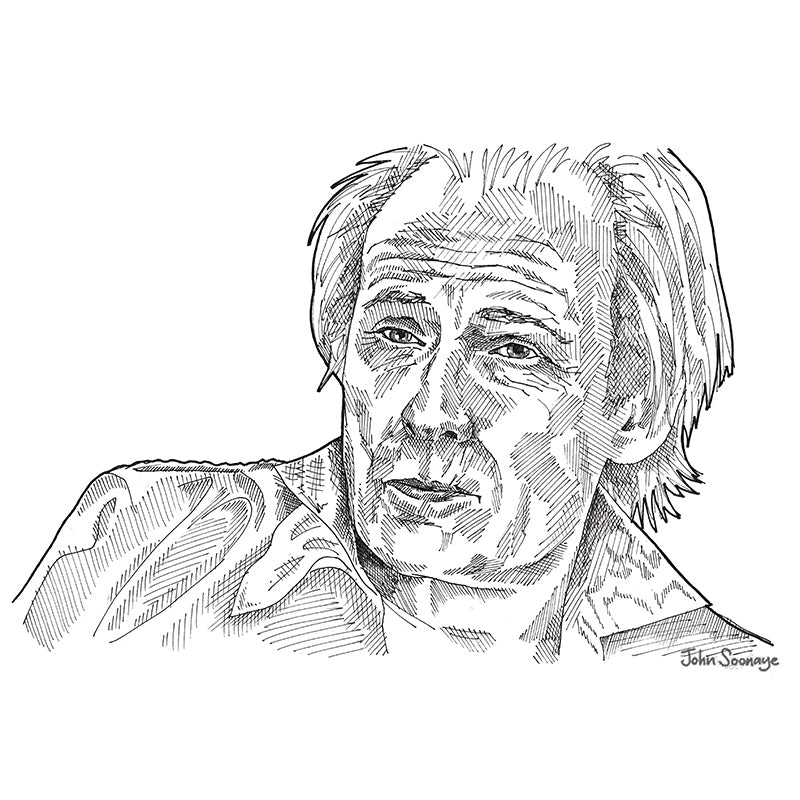 Bill Nighy by John Soonaye - signed fine art print - Egoiste Gallery - Art Gallery in Manchester City Centre