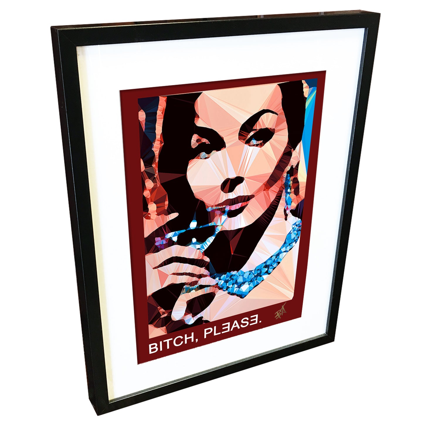 Bitch, Please by Baiba Auria - signed art print with quote - Egoiste Gallery - Art Gallery in Manchester City Centre
