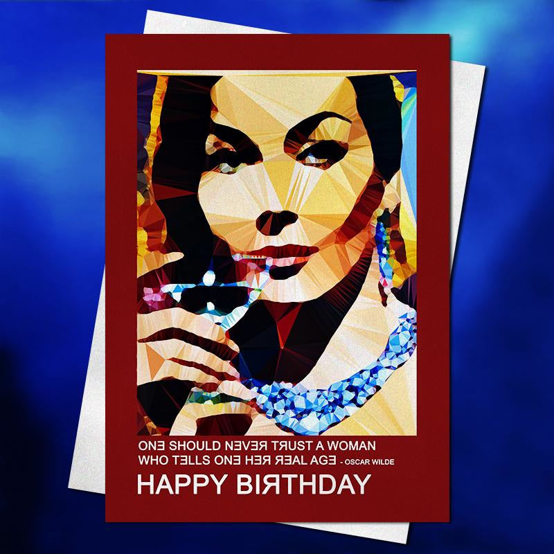 Bitch, please birthday card by Baiba Auria - Egoiste Gallery - Art Gallery in Manchester City Centre