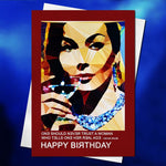 Bitch, please birthday card by Baiba Auria - Egoiste Gallery
