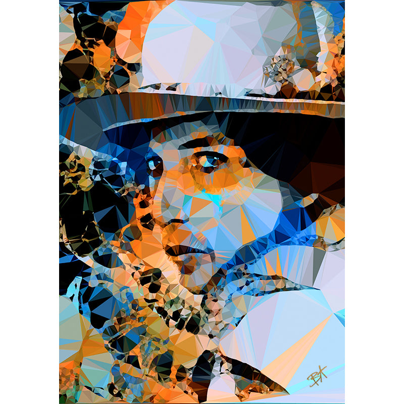 Bob Dylan (I) by Baiba Auria - signed archival Giclee print - Egoiste Gallery - Art Gallery in Manchester City Centre