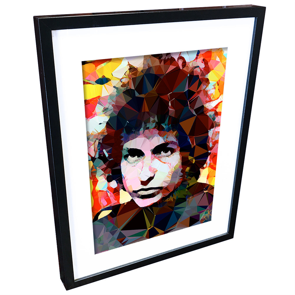 Bob Dylan (IV) by Baiba Auria - signed archival Giclee print - Egoiste Gallery - Art Gallery in Manchester City Centre