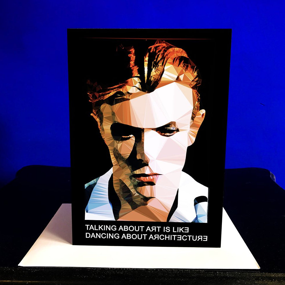 David Bowie greeting card by Baiba Auria - Egoiste Gallery - Art Gallery in Manchester City Centre