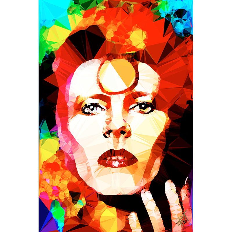 Bowie - Gold by Baiba Auria - signed art print - Egoiste Gallery - Art Gallery in Manchester City Centre