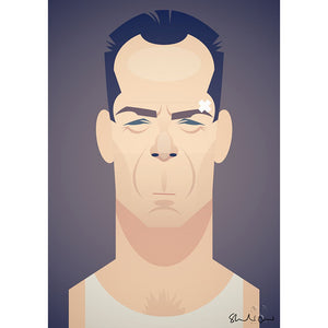 Bruce Willis by Stanley Chow - Signed and stamped fine art print