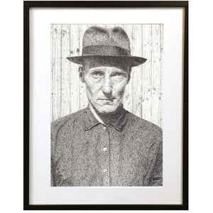 William Burroughs by Matt Hopper - signed fine art giclee print - Egoiste Gallery
