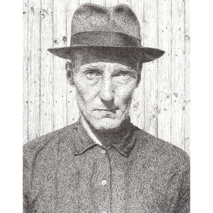 William Burroughs by Matt Hopper - signed fine art giclee print - Egoiste Gallery - Art Gallery in Manchester City Centre