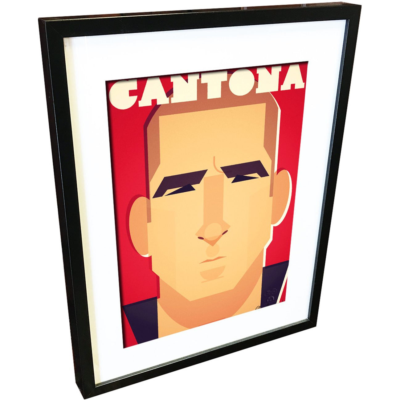 Eric Cantona by Stanley Chow - Signed and stamped fine art print - Egoiste Gallery - Art Gallery in Manchester City Centre