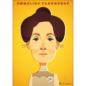 Emmeline Pankhurst by Stanley Chow - Signed and stamped fine art print - Egoiste Gallery
