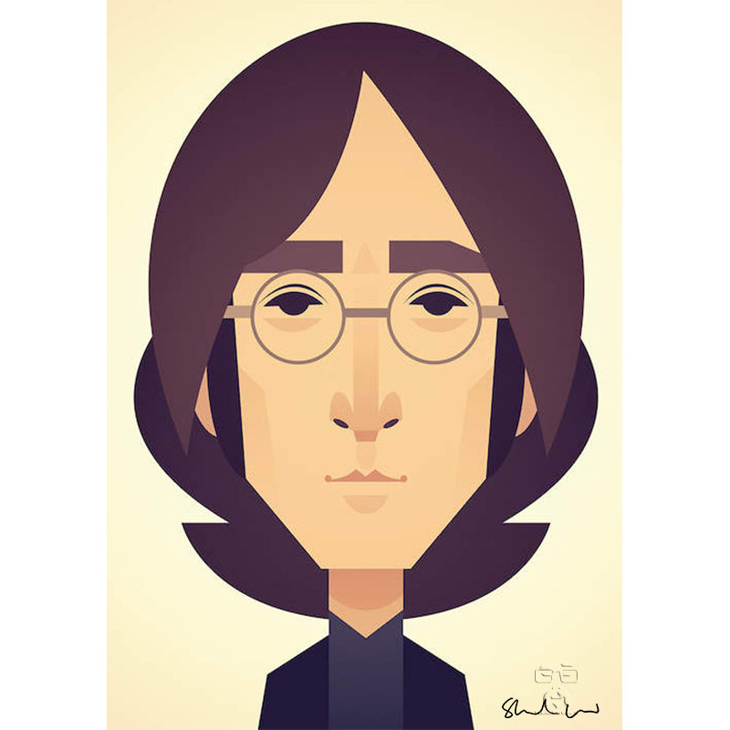 John Lennon by Stanley Chow - Signed and stamped fine art print - Egoiste Gallery - Art Gallery in Manchester City Centre
