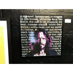 Chris Cornell by Leaky - limited edition signed and framed fine art print 1/250 - Egoiste Gallery
