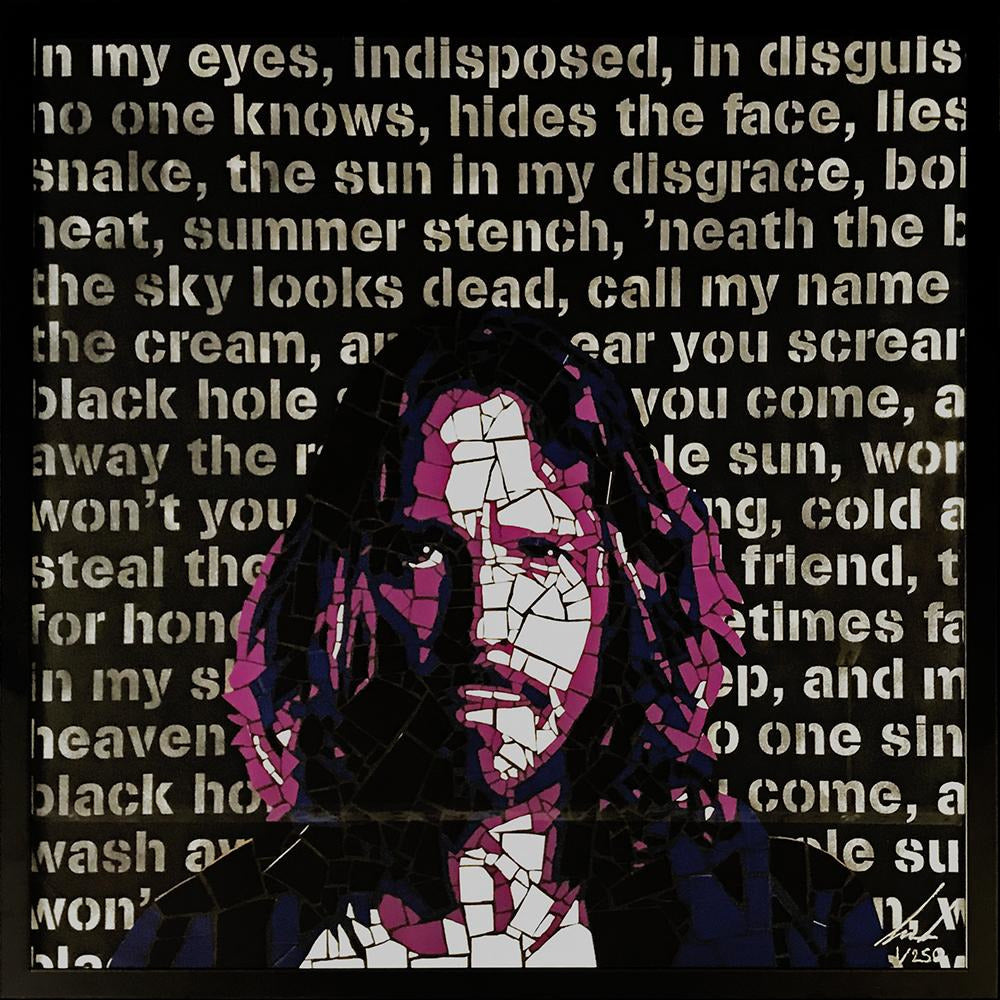 Chris Cornell by Leaky - limited edition signed and framed fine art print 1/250 - Egoiste Gallery - Art Gallery in Manchester City Centre