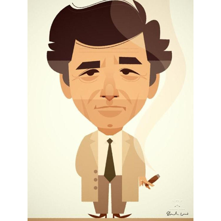 Columbo by Stanley Chow - Signed and stamped fine art print - Egoiste Gallery - Art Gallery in Manchester City Centre