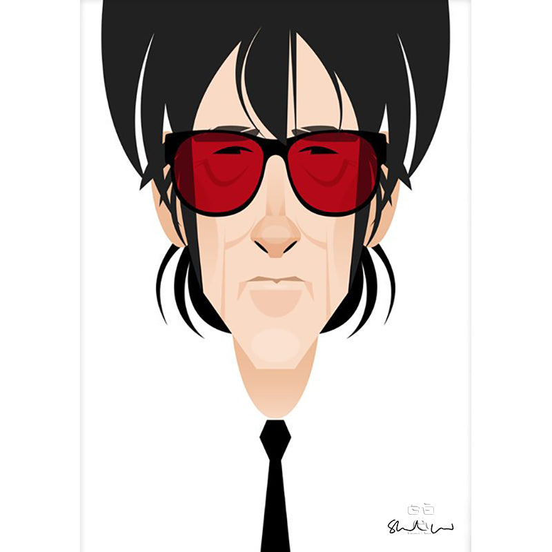 John Cooper Clarke by Stanley Chow - Signed and stamped fine art print - Egoiste Gallery - Art Gallery in Manchester City Centre