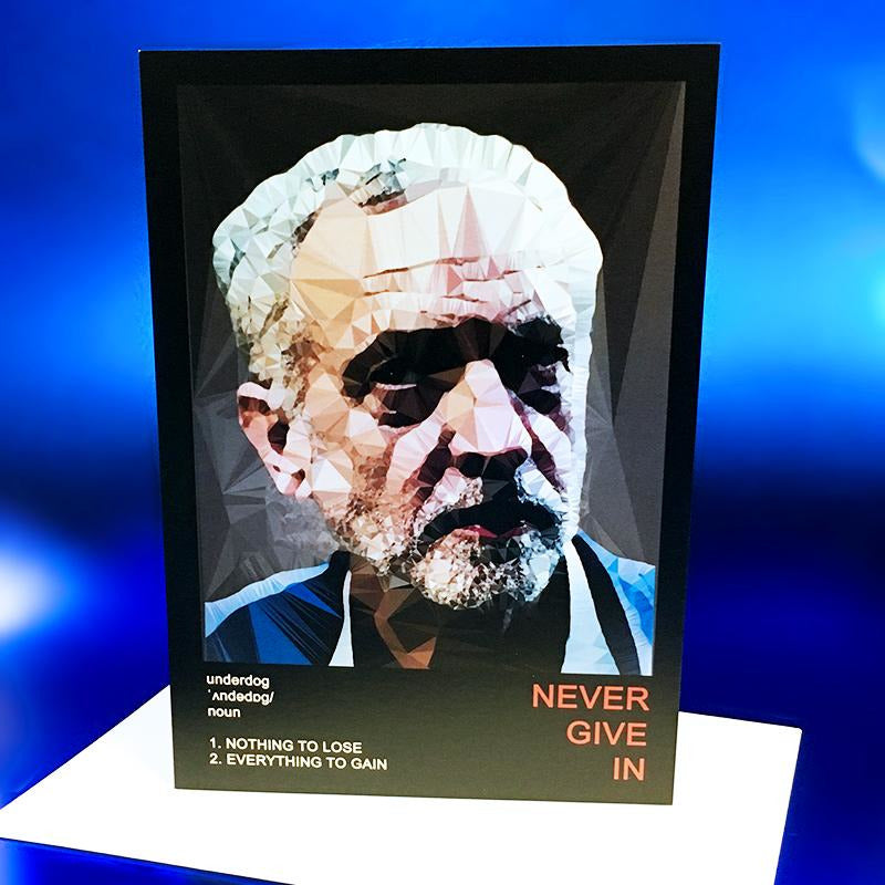 Jeremy Corbyn greeting card by Baiba Auria - Egoiste Gallery - Art Gallery in Manchester City Centre