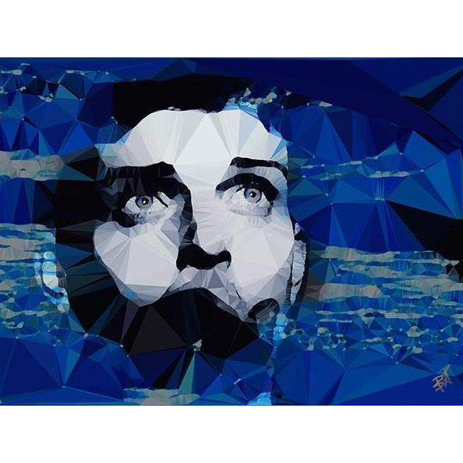 Ian Curtis #1 by Baiba Auria - signed art print - Egoiste Gallery - Art Gallery in Manchester City Centre