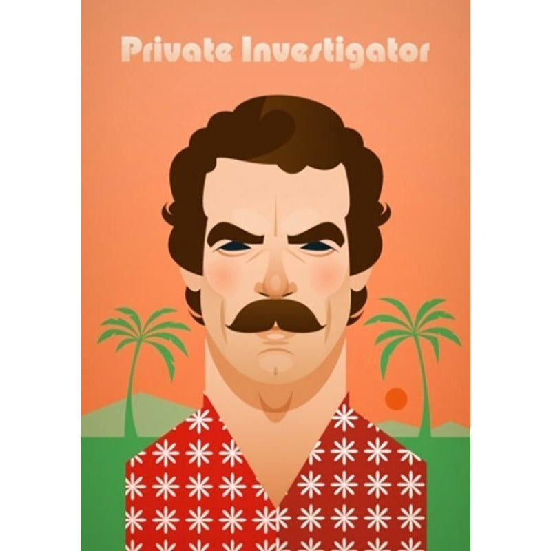 Magnum P.I. by Stanley Chow - Signed and stamped fine art print - Egoiste Gallery - Art Gallery in Manchester City Centre