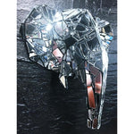 Elephant by Dark Mark - mirror mosaic trophy head sculpture - for Pre Order only - Egoiste Gallery