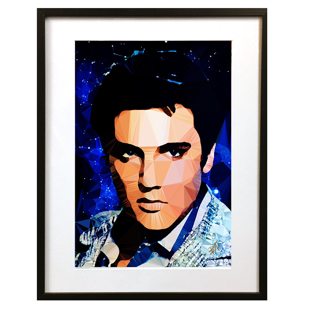 Elvis #2 by Baiba Auria - signed art print - Egoiste Gallery - Art Gallery in Manchester City Centre