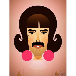 Freddie Mercury (Break free) by Stanley Chow - Signed and stamped fine art print - Egoiste Gallery - Art Gallery in Manchester City Centre