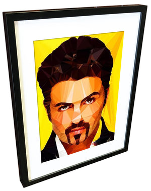 George Michael #2 by Baiba Auria - signed art print - Egoiste Gallery - Art Gallery in Manchester City Centre