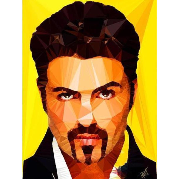 George Michael #2 by Baiba Auria - signed art print - Egoiste Gallery