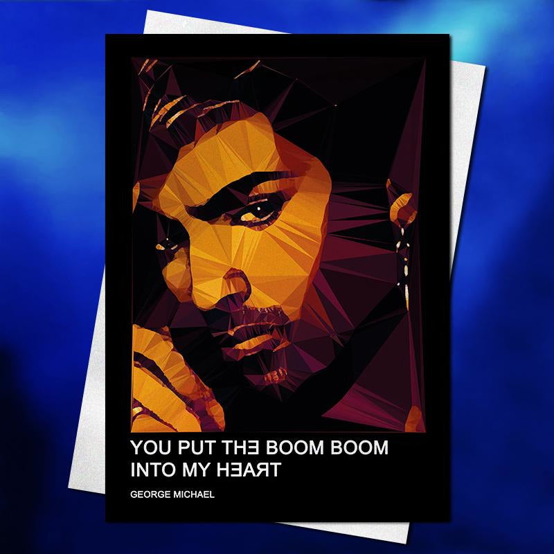 George Michael greeting card by Baiba Auria #1 - Egoiste Gallery - Art Gallery in Manchester City Centre