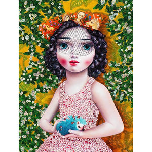Girl With A Hedgehog by Liva Pakalne - fine art print - Egoiste Gallery