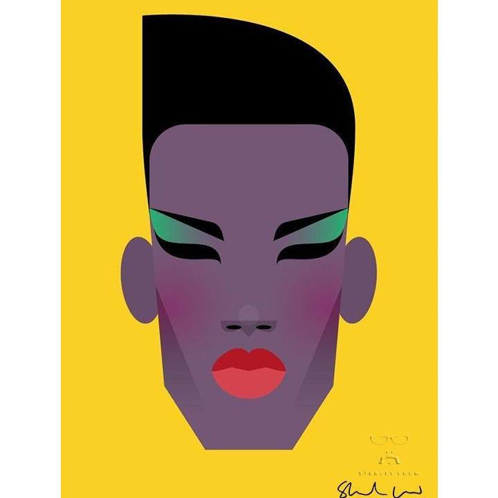 Grace Jones by Stanley Chow - Signed and stamped fine art print - Egoiste Gallery