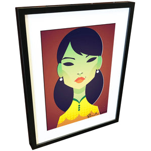 The Green Lady by Stanley Chow - Signed and stamped fine art print - Egoiste Gallery
