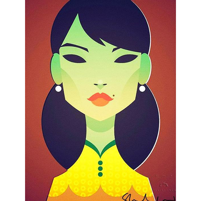The Green Lady by Stanley Chow - Signed and stamped fine art print