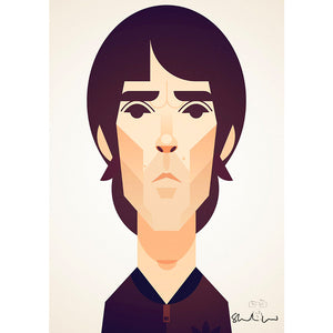 Ian Brown by Stanley Chow - Signed and stamped fine art print - Egoiste Gallery - Art Gallery in Manchester City Centre