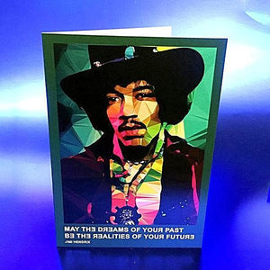 Jimi Hendrix  greeting card by Baiba Auria #1 - Egoiste Gallery