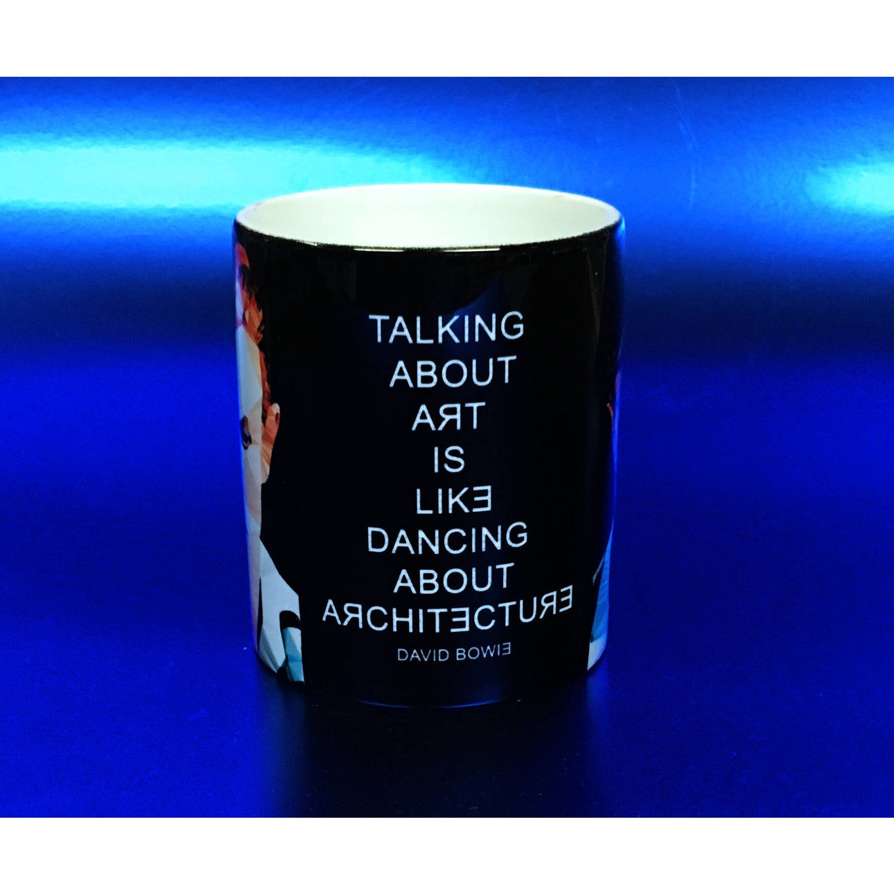 David Bowie Mug by Baiba Auria - Egoiste Gallery - Art Gallery in Manchester City Centre
