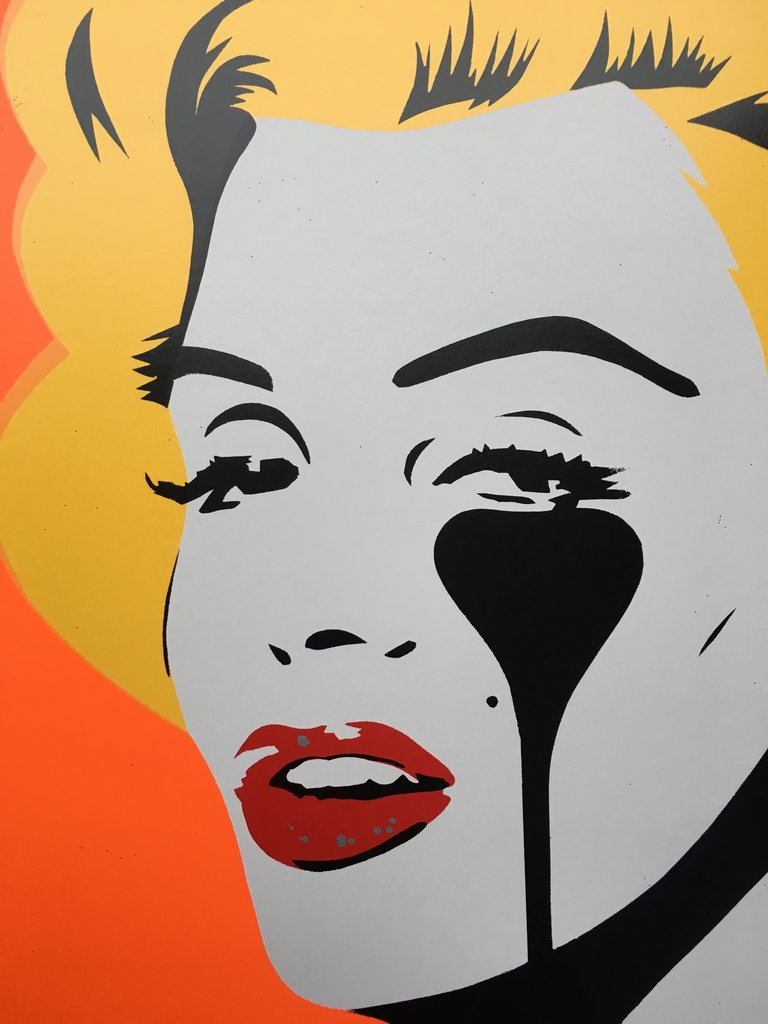 Marilyn Glam - Tangerine Dream by Pure Evil - signed and framed limited edition print of 100 - Egoiste Gallery