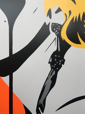 Marilyn Glam - Tangerine Dream by Pure Evil - signed and framed limited edition print of 100 - Egoiste Gallery - Art Gallery in Manchester City Centre