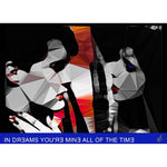 "Blue Velvet - ""IN DREAMS YOU'RE MINE ALL OF THE TIME"" art print signed by Baiba Auria - Egoiste Gallery"