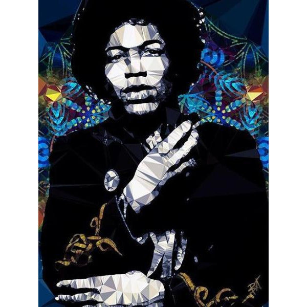 Jimi Hendrix #2 by Baiba Auria - signed art print - Egoiste Gallery - Art Gallery in Manchester City Centre