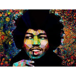 Jimi Hendrix #3 by Baiba Auria - signed art print - Egoiste Gallery - Art Gallery in Manchester City Centre