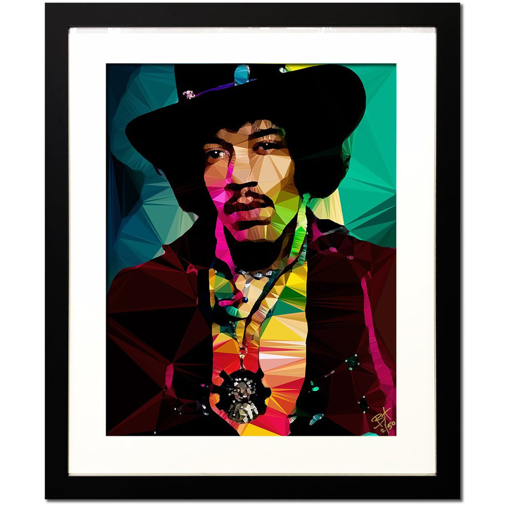 Jimi Hendrix #1 by Baiba Auria - Limited Edition 2/50 signed art print - Egoiste Gallery