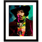 Jimi Hendrix #1 by Baiba Auria - Limited Edition 2/50 signed art print - Egoiste Gallery - Art Gallery in Manchester City Centre