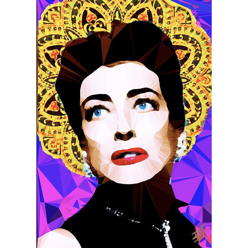 Joan Crawford #1 by Baiba Auria - signed art print - Egoiste Gallery