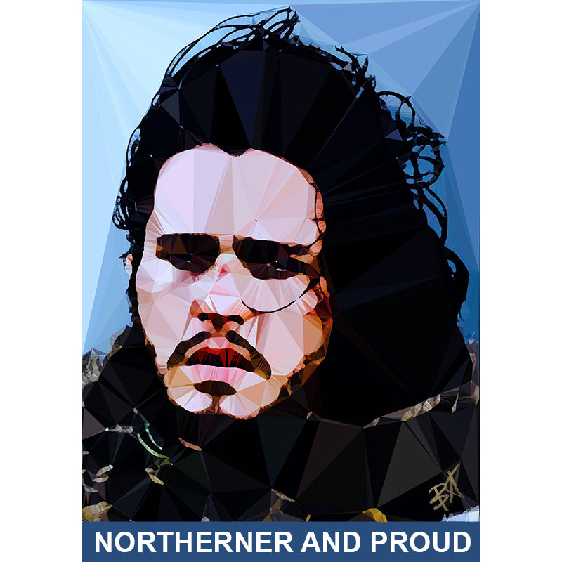 Jon Snow #1 by Baiba Auria - signed art print - Egoiste Gallery - Art Gallery in Manchester City Centre