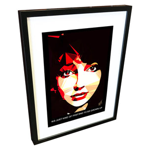 Kate Bush by Baiba Auria - signed art print with quote - Egoiste Gallery - Art Gallery in Manchester City Centre