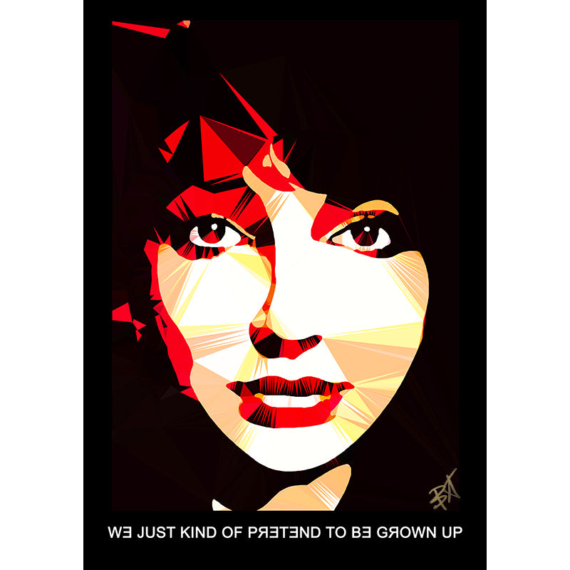 Kate Bush by Baiba Auria - signed art print with quote - Egoiste Gallery